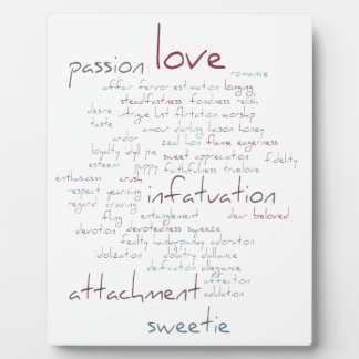 Valentine Love Word Cloud Photo Plaques