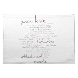 Valentine Love Word Cloud Placemats