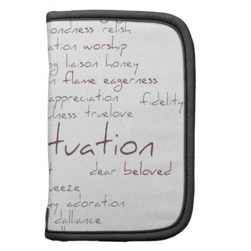 Valentine Love Word Cloud Folio Planner