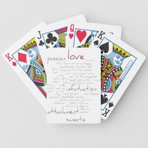 Valentine Love Word Cloud Card Decks