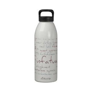 Valentine Love Word Cloud Reusable Water Bottles