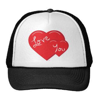 Valentine-Love You 2-Hearts Cap