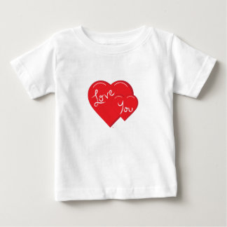 -Valentine-Love you 2- Red Hearts Baby T-Shirt