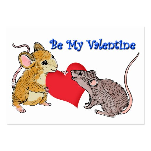 Valentine Mice Cards to Hand Out for Kids Business Cards
