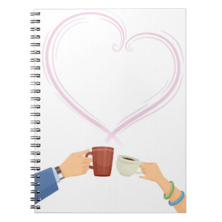 Valentine Mug toss with a Couple Hand Notebook