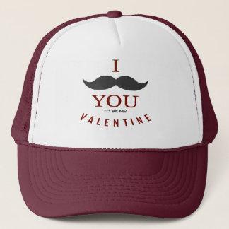 Valentine Mustache Gifts Trucker Hat