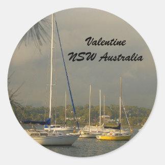 Valentine NSW Australia Round Sticker