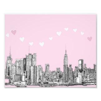 Valentine NYC pink Art Photo