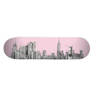 Valentine NYC pink Custom Skateboard