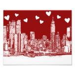 valentine NYC skyline Photo Print