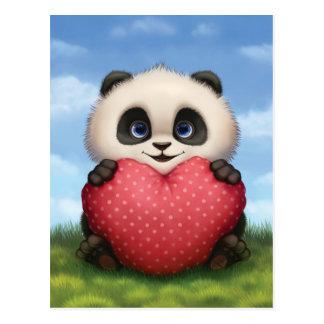 Valentine Panda Postcard