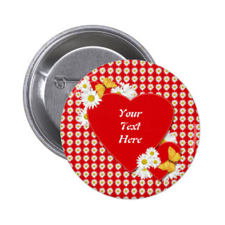 Valentine Party Daisies Button