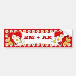 Valentine Party Daisies Decoration - Bumper Sticke Bumper Sticker