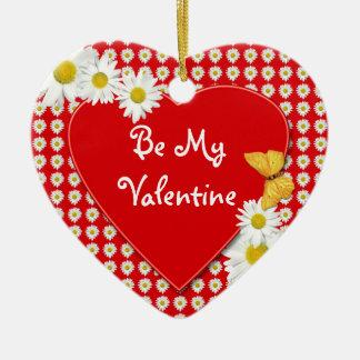 Valentine Party Daisy Heart Ornament