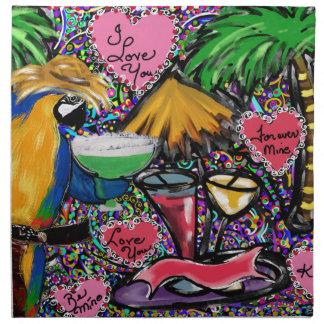 Valentine Party Parrot Napkin
