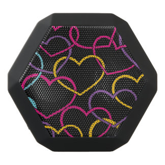 Valentine Pattern with Color Hearts Black Boombot Rex Bluetooth Speaker