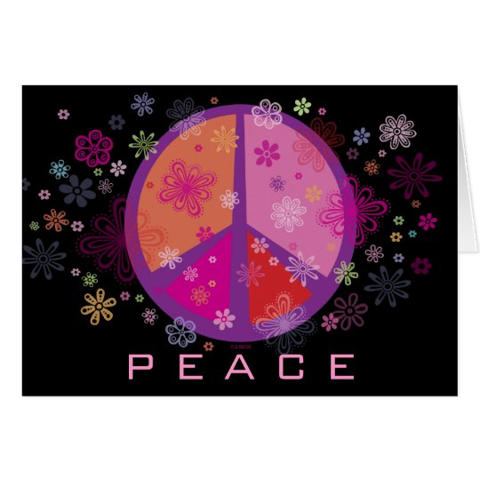Valentine Peace Sign Card