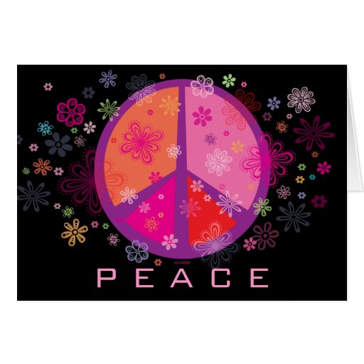Valentine Peace Sign Greeting Card