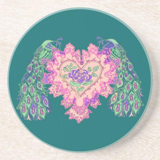 Valentine Peacock Coaster