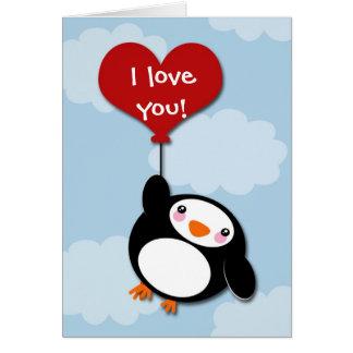 Valentine PENGUIN - card
