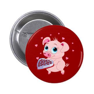 Valentine Pig Chocolate Pin