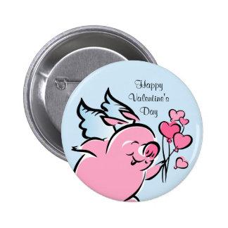 Valentine Pig Personalized Button