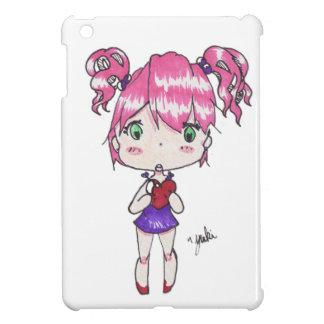 Valentine print of a chibi girl holding a heart iPad mini cases