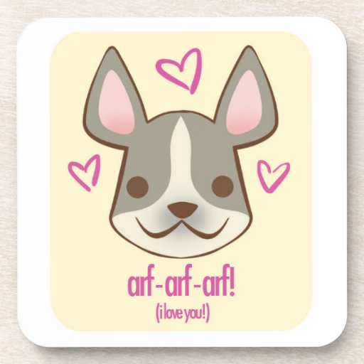 Valentine Pups - Frenchie: coaster