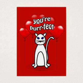 Valentine Purr-fect Cute Cat Kids Pack Business Card