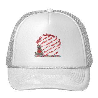 """Valentine  Raccoon """"Bandit"""" Photo Frame Trucker Hat"""