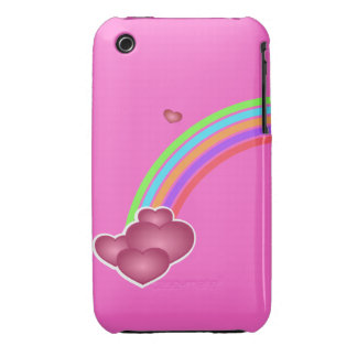 Valentine Rainbow and Hearts Blackberry Curve Case iPhone 3 Case-Mate Cases