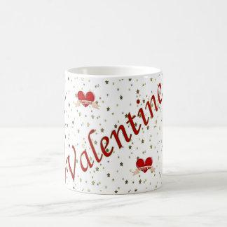 Valentine Red Hearts and Stars Mug