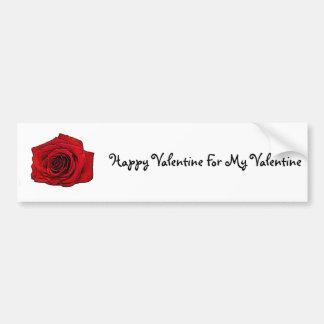 Valentine Rose Art Bumper Sticker