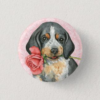 Valentine Rose Bluetick 3 Cm Round Badge