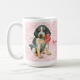 Valentine Rose Bluetick Coffee Mug