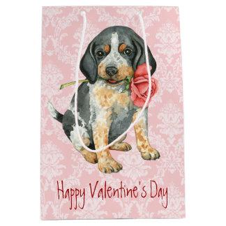 Valentine Rose Bluetick Medium Gift Bag