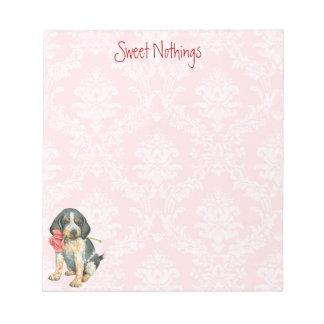 Valentine Rose Bluetick Notepad