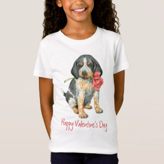 Valentine Rose Bluetick T-Shirt