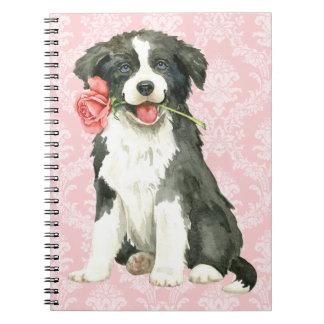 Valentine Rose Border Collie Notebooks