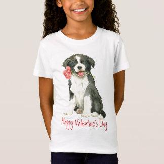 Valentine Rose Border Collie T-Shirt