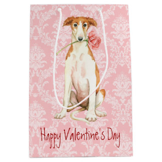 Valentine Rose Borzoi Medium Gift Bag