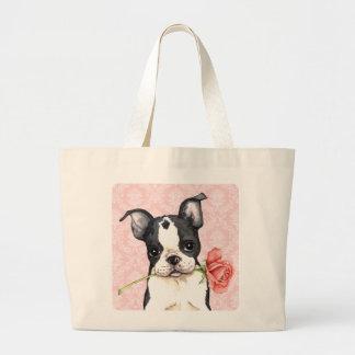 Valentine Rose Boston Terrier Bags