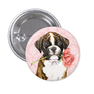 Valentine Rose Boxer Pin