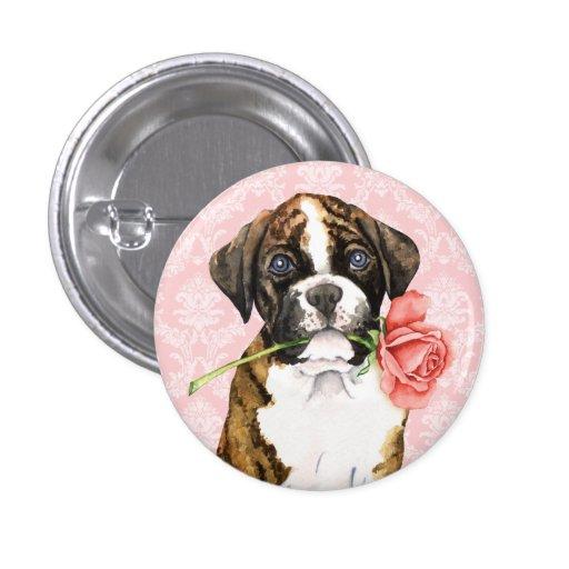 Valentine Rose Boxer Pin