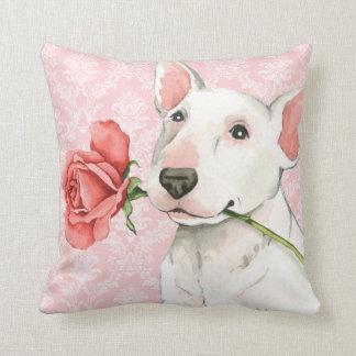 Valentine Rose Bull Terrier Cushions
