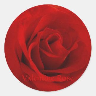Valentine Rose Classic Round Sticker