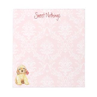 Valentine Rose Cocker Notepad