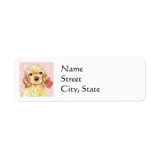 Valentine Rose Cocker Return Address Label