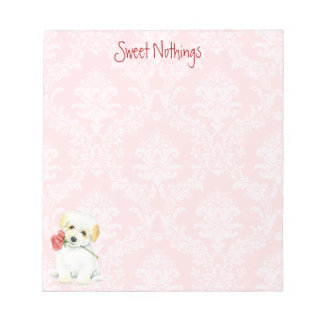 Valentine Rose Coton Notepad