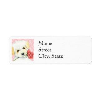 Valentine Rose Coton Return Address Label